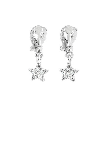 Glamorousky silver Twinkle Little Star Earrings with Silver Austrian Element Crystals (Non Piercing) 58C71AC9573282GS_1