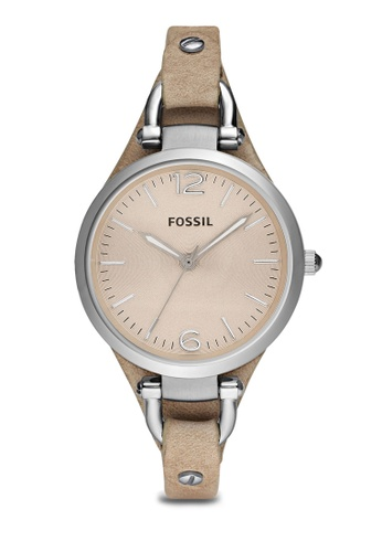 Fossil brown Light Brown/Light Brown Georgia Three Hand Leather Watch ES2830 FO164AC72ZPZMY_1