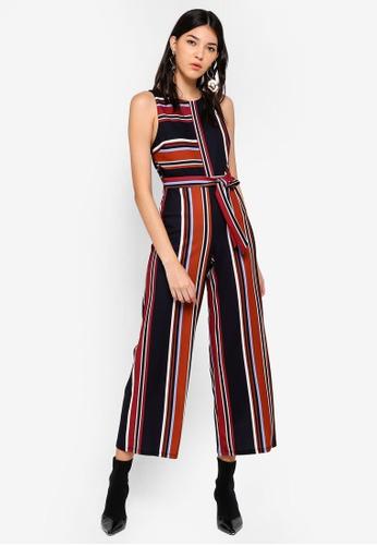 Miss Selfridge multi Petite Multi Colour Striped Jumpsuit FF149AA4381DE4GS_1