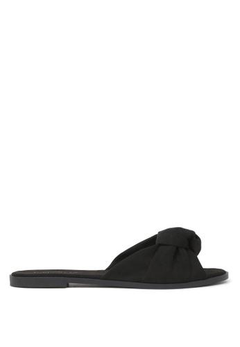London Rag 黑色 LONDON RAG 女式黑色平底拖鞋 BA63FSH4270C3BGS_1
