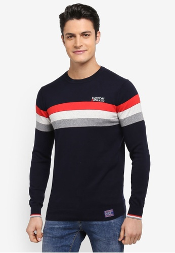 Superdry navy Athletic Tour Crew Sweatshirt 8980EAA2846AC0GS_1