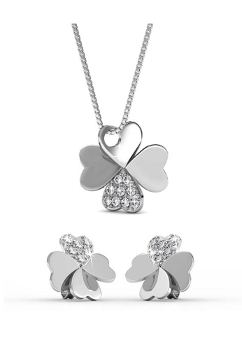 Her Jewellery silver Clover Set with Premium Grade Crystals from Austria AD186AC535A5C3GS_1