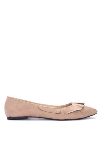 BENCH brown Pointed Ballerina Flats FA70BSHF8D5B8CGS_1