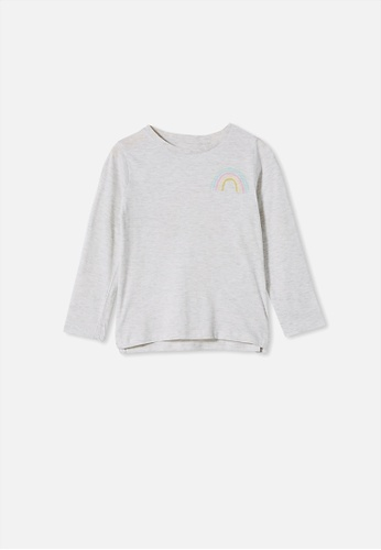 Cotton On Kids grey Penelope Long Sleeve Tee 4B04EKAFDF804EGS_1