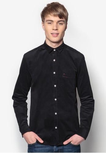 合身長袖襯衫, 服飾,esprit專櫃 素色襯衫