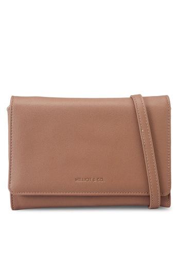 Milliot & Co. brown Alisa Sling Bag 41EC9ACCF4A84BGS_1