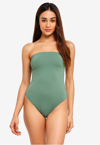 Cotton On Body green Strapless One Piece Cheeky Swimsuit 4C80EUS6343295GS_1