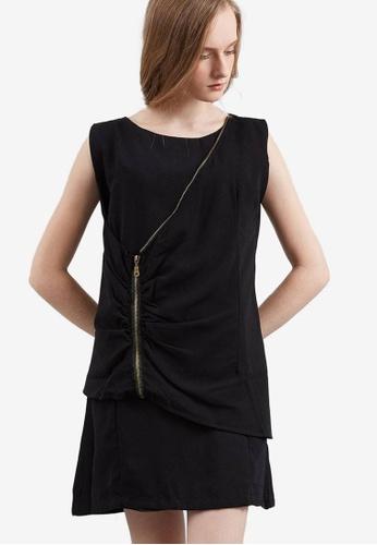 Berrybenka black Dego Wrap Dress 65B2DAA532E682GS_1