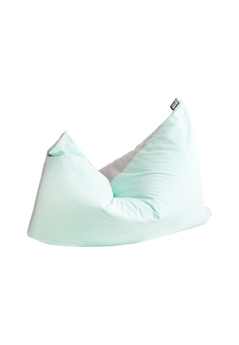 doob grey and green and multi DOOBSTA' - versatile fabric doob bean bag (Peppermint) 21A5AHL5B22FF6GS_1