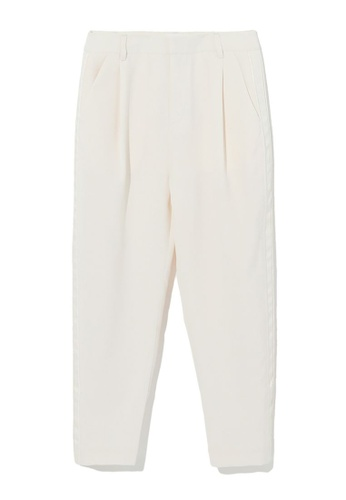 izzue white Taped trousers DBD68AA7EC496FGS_1