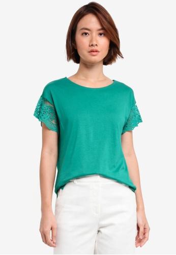 ESPRIT green Short Sleeve T-Shirt 83018AAB6D8132GS_1
