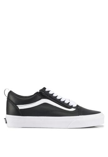 VANS black Old School Zip Leather Sneakers VA142SH0SWS8MY_1