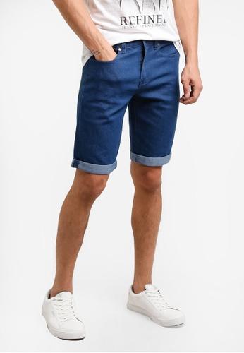 threads by the produce 藍色 Denim Bermuda Shorts TH122AA98HHPMY_1