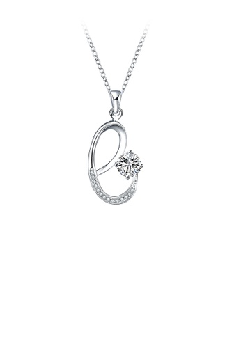 Glamorousky white Fashion Simple Letter E Pendant with Cubic Zircon and Necklace F0FFDAC63AAACFGS_1
