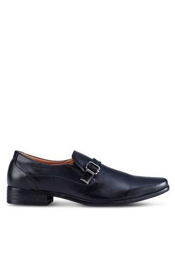 Frank Williams black Leather Business Shoes FR033SH17KCGSG_1