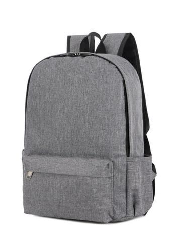 Jackbox Korean Lightweight Simple Design Ipad Laptop Bag Casual Daypack Backpack 546 (Grey) 276DAAC0793529GS_1