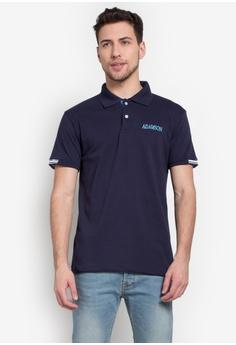 Universidad navy Adamson Kappa Honeycomb Polo Shirt UN585AA0KB7JPH_1