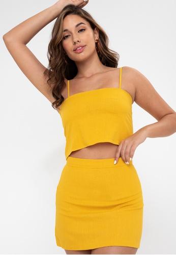Anna Alba yellow Kalfina Coordinate - Set 4B56BAA6950655GS_1