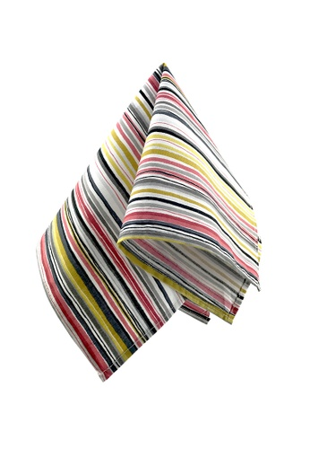 Caveman multi Colourful Stripes Pocket Square 8A98DAC098DF86GS_1