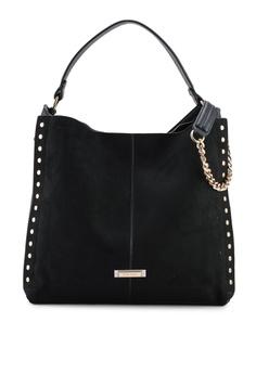 53db5708edfd River Island black Studded Side Slouch Bag 03006AC651E384GS 1