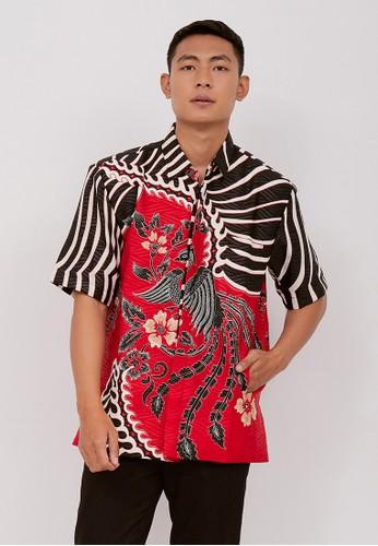 Batik Wibowo red Wasa Batik Shirt 38511AA3C1159AGS_1