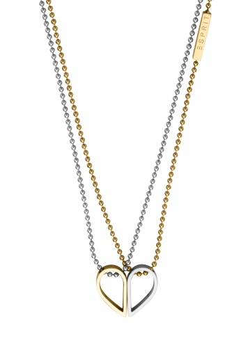 ESPRIT gold ESPRIT [Passion] Two-Tone Silver & Gold Stainless Steel Necklace (42 cm + 3 cm extension) 091B8ACBF27D86GS_1