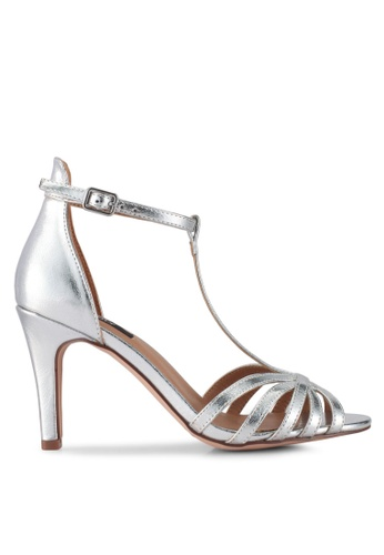 ONLY silver Labby Pu Strappy Heels 42CB2SH0B6C959GS_1