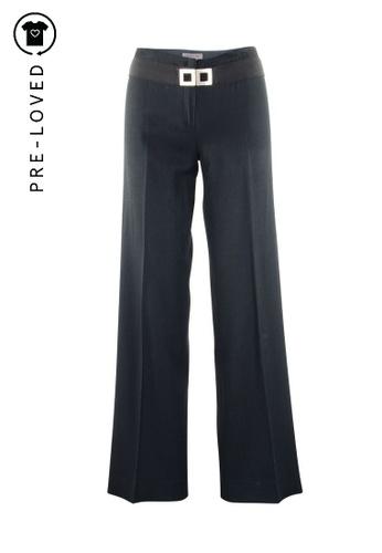 Alberta Ferretti black Pre-Loved alberta ferretti Black Pants with Belt 02F0AAA1B22BB4GS_1
