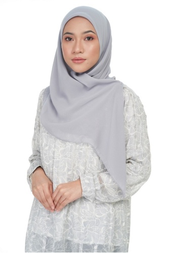 KASHKHA grey Chiffon basic square-GREY 1DBE0AA4BCFA66GS_1