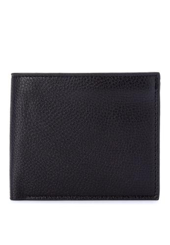 ZALORA black Pebble Effect Bifold Small Wallet 2B244ZZ62EDEFBGS_1
