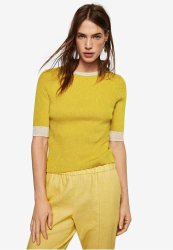 Mango yellow Ribbed Sweater 8B996AA492058CGS_1