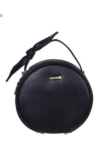 Verchini black Verchini Top Zip Bow Round Tote Shoulder Bag A5454ACCFE7FBFGS_1
