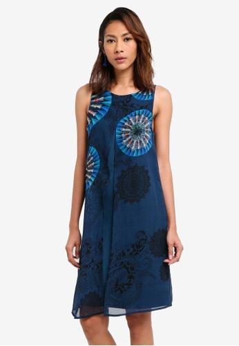 Desigual blue Sophie Dress 37448AACD241E1GS_1