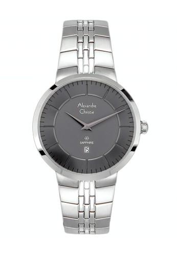 Alexandre Christie silver Alexandre Christie Jam Tangan Wanita - Silver Black - Stainless Steel - 8565 LDBSSBA  0371DAC6F3E668GS_1