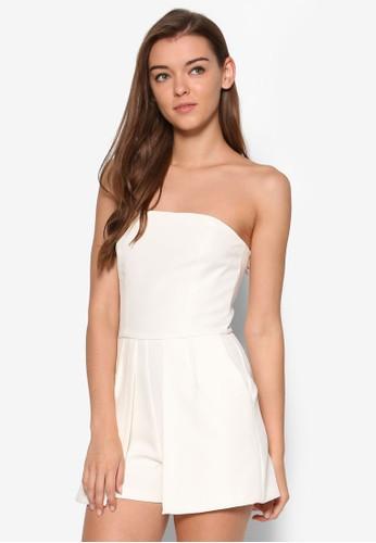 平口抹胸連身褲、 服飾、 清新俏皮MissSelfridge平口抹胸連身褲最新折價