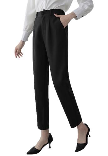 Halo black Simple Cropped Pants 8A2D6AA3D022ADGS_1