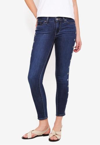 Levi's blue 711 Skinny Jeans B3FC1AA9BEA988GS_1
