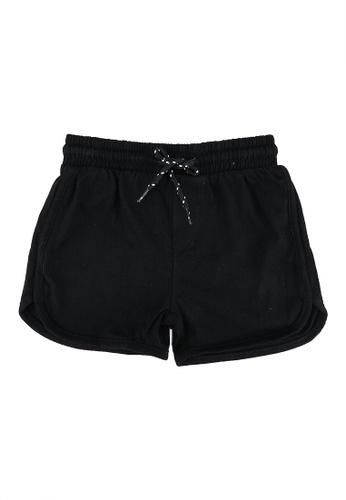 FOX Kids & Baby black Plain Knit Shorts 51524KA9F14D95GS_1