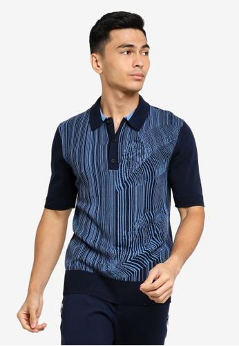 ck Calvin Klein blue PURE HIGH TWIST COTTON POLO SHIRT 3D299AA41159BEGS_1