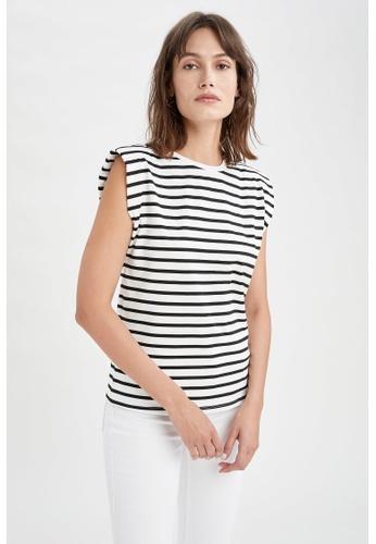 DeFacto beige Regular Fit Short Sleeve Cotton T-Shirt 555DFAA1425454GS_1
