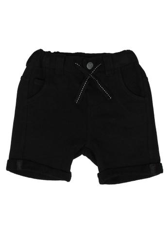 FOX Kids & Baby black Baby Boy Drawstrings Shorts 14AD0KA094C795GS_1