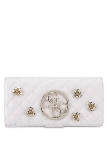 Guess white G Lux File Wallet 3DD7EAC93DB931GS_1