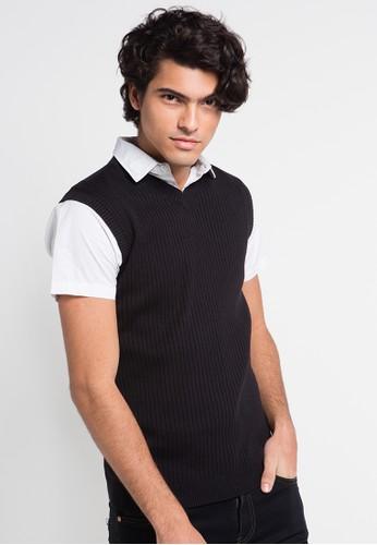 Noir Sur Blanc black Mens Vest Sleeveless NO321AA0UHDTID_1