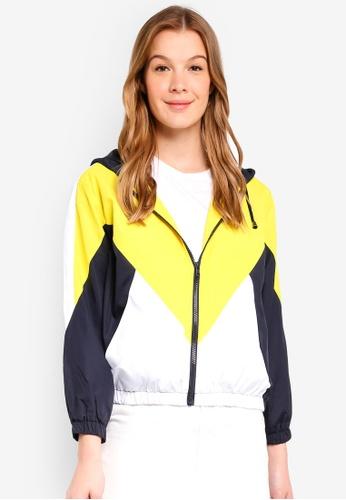 TOPSHOP yellow Yellow Windbreaker Jacket 559B1AAFDD777AGS_1