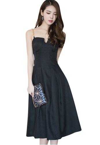 Sunnydaysweety black 2017 S/S Elegant little black One-Piece Dress UA040305 SU219AA15DWUSG_1