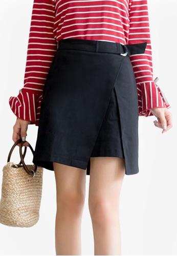 Tokichoi black Minimalist Wrapped Skirt 94A10AAD99F818GS_1