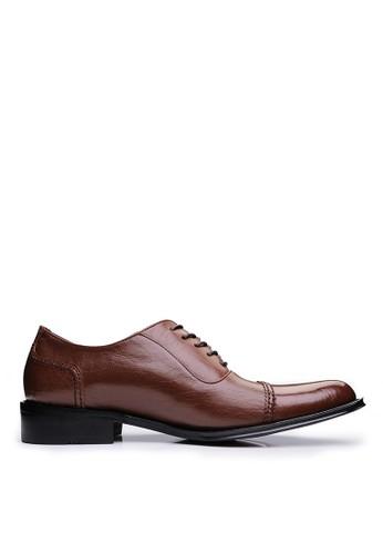 MIT英式尊爵。頂級小牛皮esprit 香港皮鞋-04395-咖啡, 鞋, 皮鞋