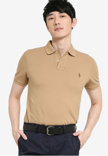 Polo Ralph Lauren beige Short Sleeve Knit Polo Shirt 46E73AA5380A9FGS_1