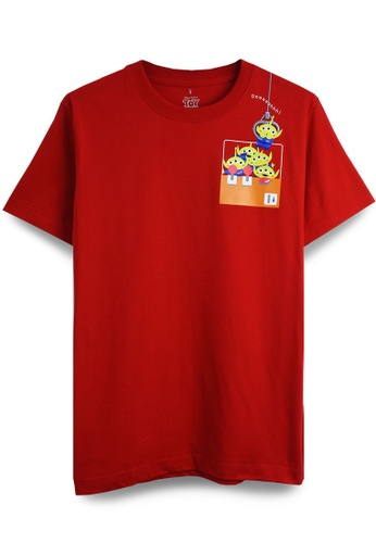 GOLDWOOD red DISNEY TOY STORY CLAW MACHINE T-SHIRT - RED CA701AAFD4B218GS_1