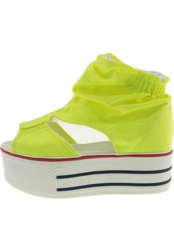 Maxstar 綠色 新款韩国鞋C50-Wrinkle時尚帆布布混合女綠色 US Women Size MA345SH89GXMTW_1